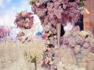 Flieder Tischgesteck Hochzeit